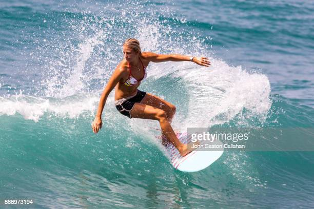 Surfing in the Caribbean Sea