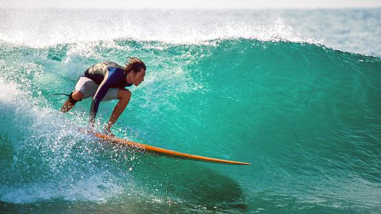 Surfing in the Mediterranean Sea - gettyimageskorea