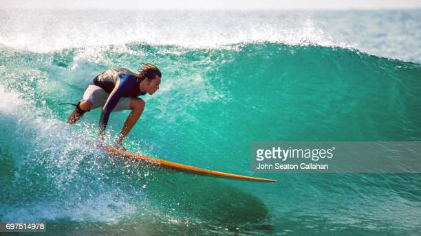 surfing in the mediterranean sea - surf ストックフォトと画像