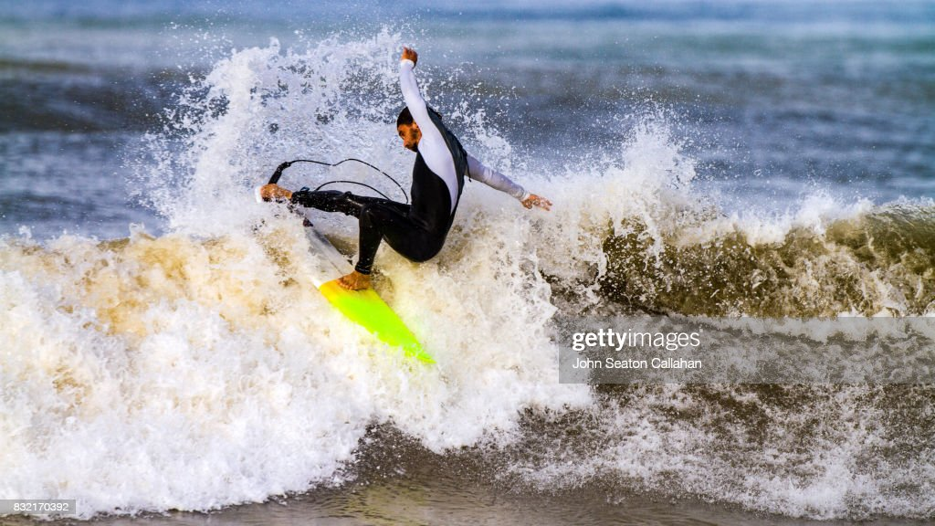 Surfing In The Mediterranean Sea Stock Photo Getty Images