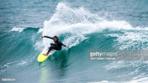 surfing in the mediterranean sea - annaba algeria foto e immagini stock