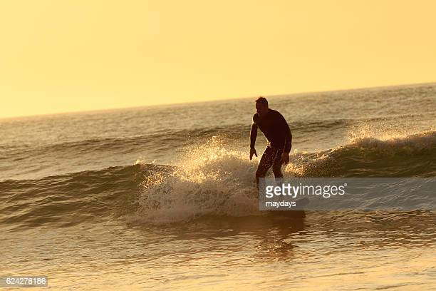 Surfing in the Ocean,  Bells Beach near Torquay, Victoria, Australia, South Pacific