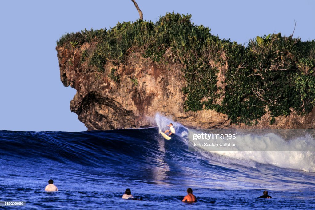 Surfing in the Pacific Ocean : Stock Photo