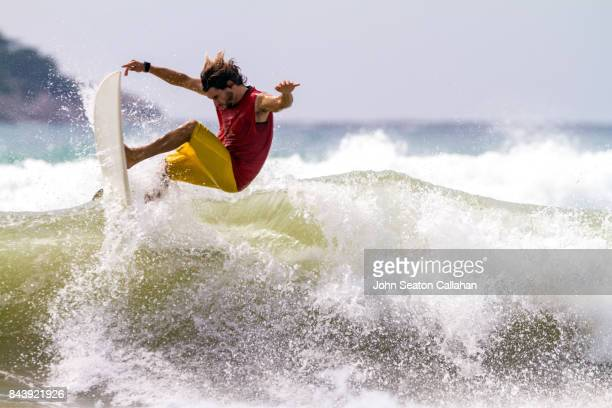 surfing in the south china sea - haikou stock pictures, royalty-free photos & images