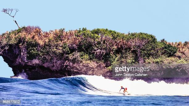 Surfing off Siargao Island