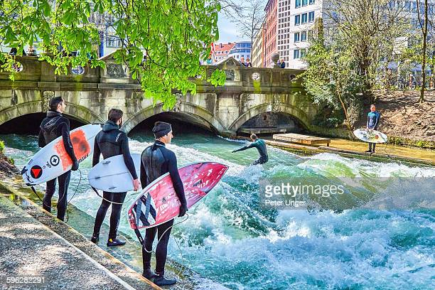 Surfing on the Englischer Garten (English Garden )