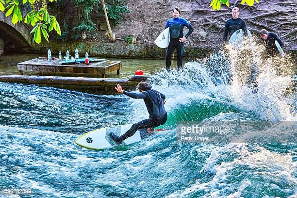 Surfing on the Englischer Garten (English Garden )