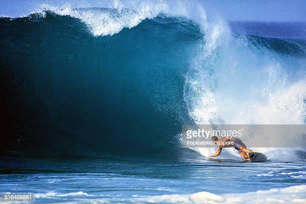 surfe na costa norte - haleiwa - fotografias e filmes do acervo