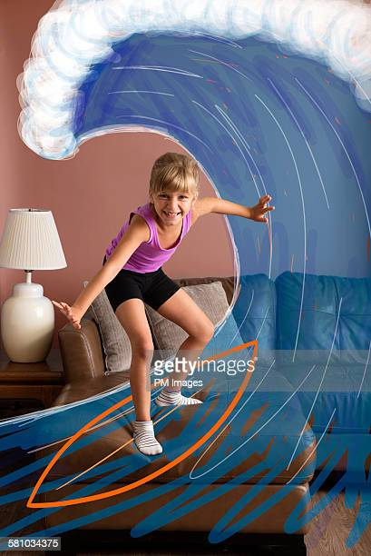 Surfing on the sofa