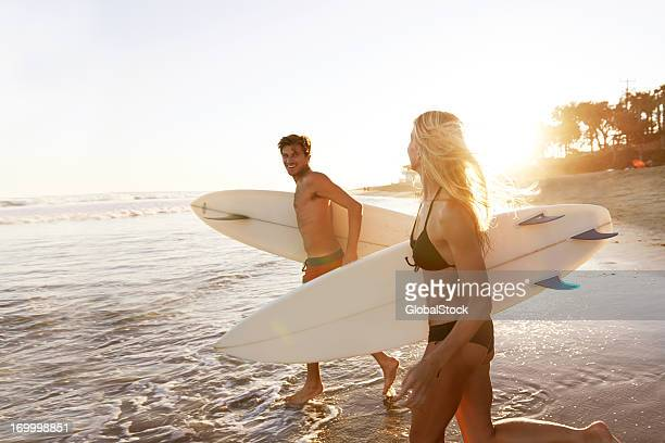 Surfing sweethearts