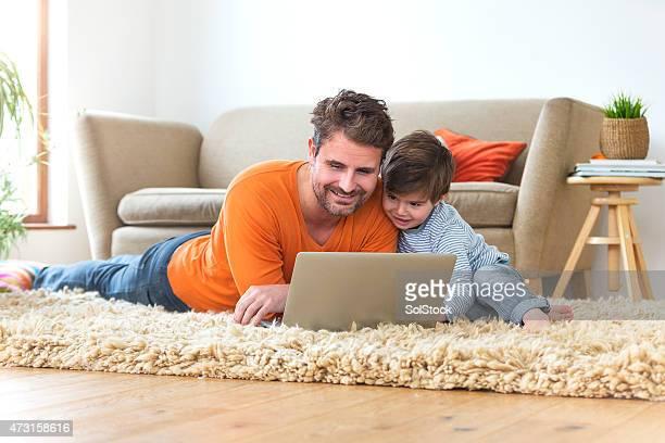 Navegar por la red con su padre