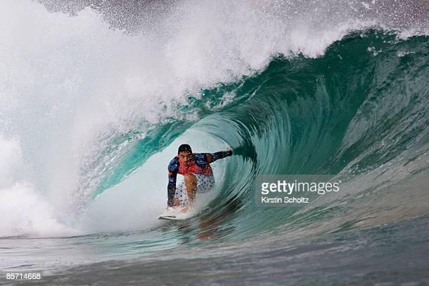 Surfing Thursday October 2 2008 ASP World Tour Billabong Pro Mundaka Basque Region Spain September 30 Ð October 12 2008 Leonardo Neves advanced into...