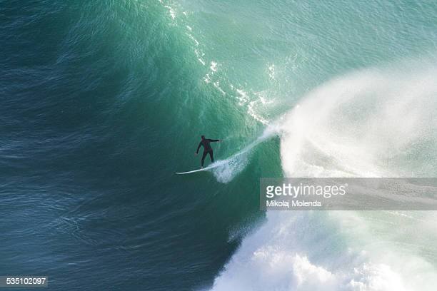 Surfing top view
