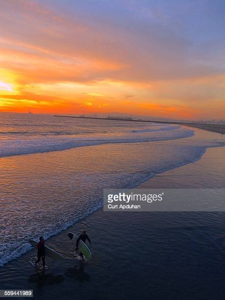 surf's up - seal beach stock pictures, royalty-free photos & images