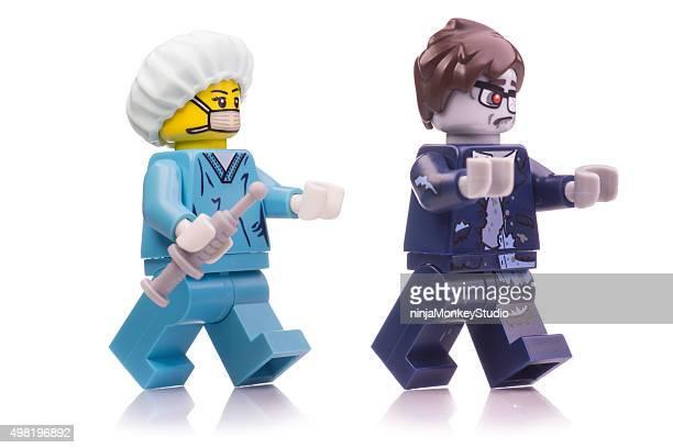 Chirurgien et Zombie Lego Mini-chiffres