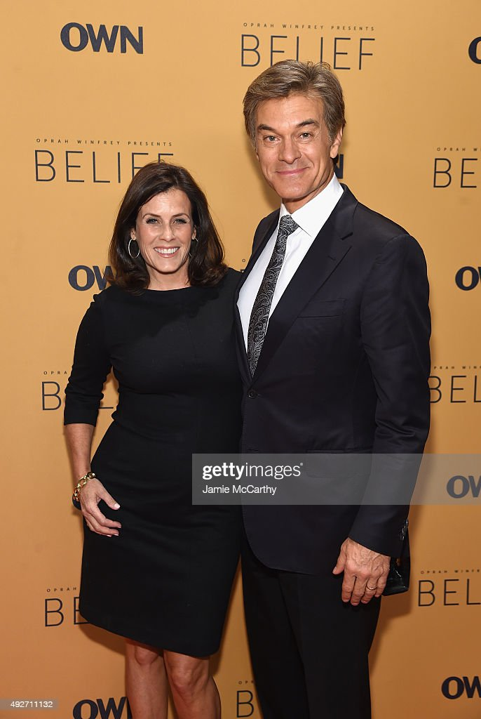 Surgeon, author Dr. Mehmet Oz and Lisa Oz attends the 'Belief' New York premiere at TheTimesCenter on October 14, 2015 in New York City.