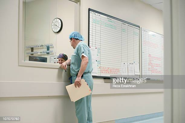 Surgeon by schedule board