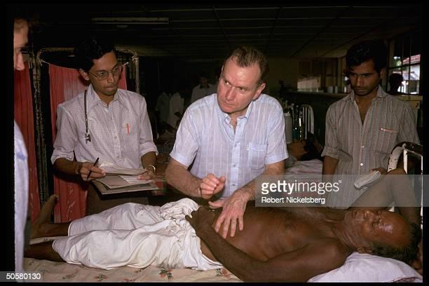 Surgeon Dr Alain Pedech volunteer w Parisbased Medecins san Frontieres working in Tamil insurgency torn Point Pedro