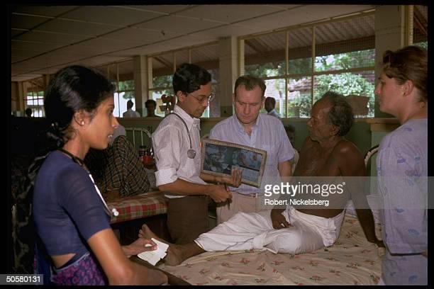 Surgeon, Dr. Alain Pedech, volunteer w. Paris-based Medecins san Frontieres, working in Tamil insurgency torn Point Pedro.