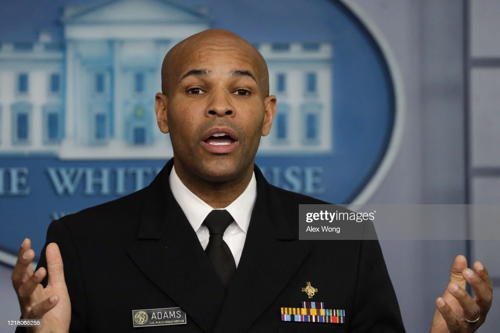 White House Coronavirus Task Force Holds Daily Briefing At The White House : News Photo