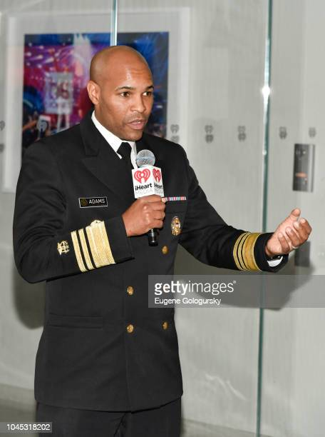 Surgeon General of the US Jerome Adams attends an iHeartMedia VIP dinner party At The iHeartMedia Headquarters During Advertising Week New York on...