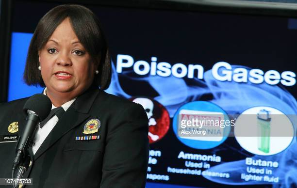 """Surgeon General Regina Benjamin speak during an event to unveil the general's report on """"How Tobacco Smoke Causes Disease"""" December 9, 2010 at the..."""