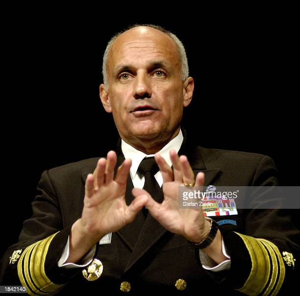 Surgeon General Richard Carmona speaks at the 15th annual National Managed Health Care Congress March 11, 2003 in Washington, DC. Carmona discussed...