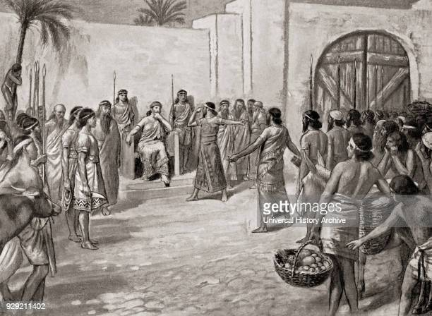 A surgeon on trial in front of Hammurabi accused of having caused the loss of the eye of a member of the upper class by an unskilful operation if...