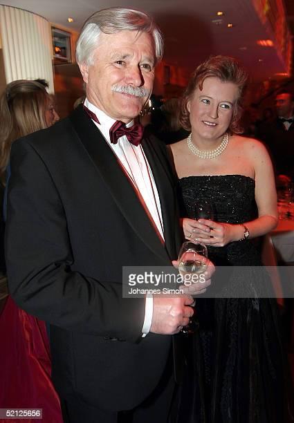 Surgeon Professor Heinrich Netz and Sabine Vogelsgesang attend the Rosenball Ball at Hotel Bayerischer Hof on February 2 2005 in Munich Germany