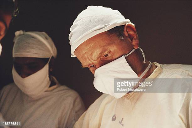 A surgeon working with 'Doctors Without Borders' helps a patient in Jaffna Sri Lanka 1st February 1992