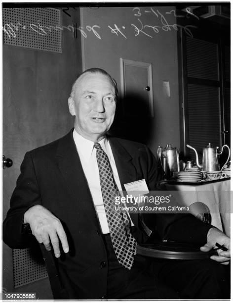 Surgeons conference 11 March 1958 Doctor AI Willinsky Doctor Philip Thorek Doctor Henry Jaffe Doctor R Dargel Mr Arnold H Kegel Caption slip reads...