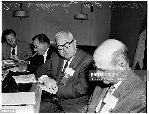 Surgeons conference Doctor AI Willinsky Doctor Philip Thorek Doctor Henry Jaffe Doctor R Dargel Mr Arnold H Kegel March 11 1958