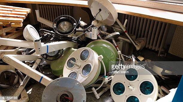 surgery equipment - abandoned stock pictures, royalty-free photos & images