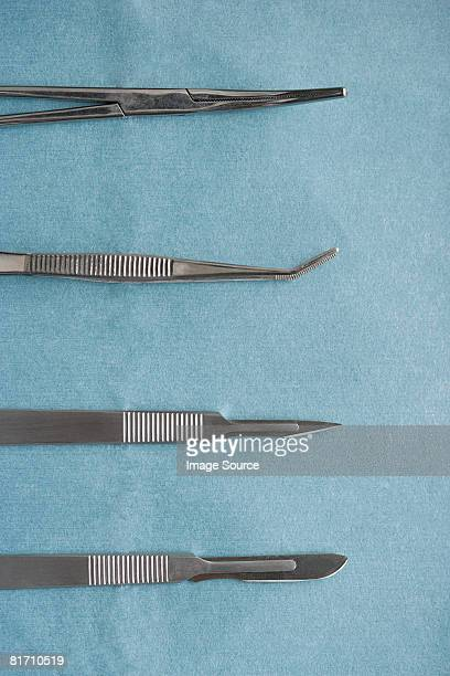 surgical equipment - scalpel stock photos and pictures