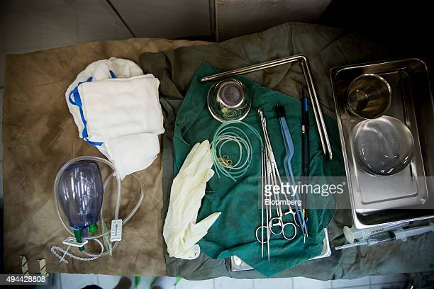 Surgical equipment sits on a table in the operating room at the Pratunam Polyclinic in Bangkok Thailand on Friday Oct 2 2015 For about 70000 baht...