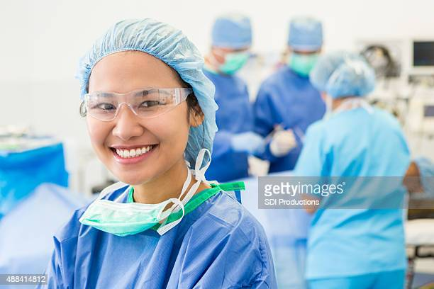 Surgical intern or nurse in hospital OR during operation