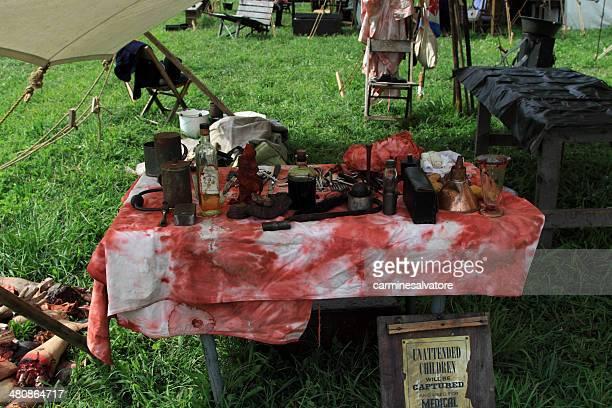 Surgical props for civil war reenactment