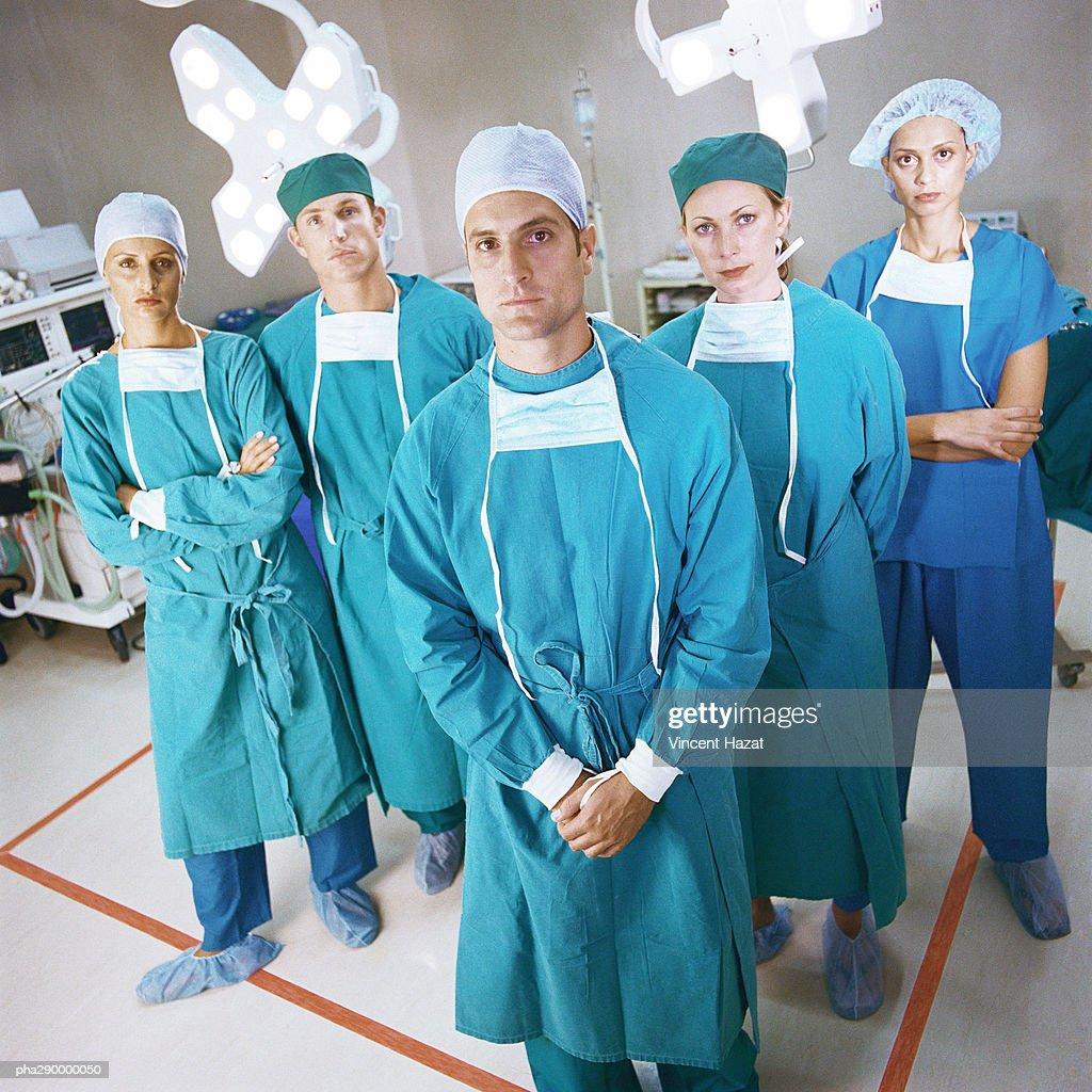 Surgical team, portrait : Stockfoto