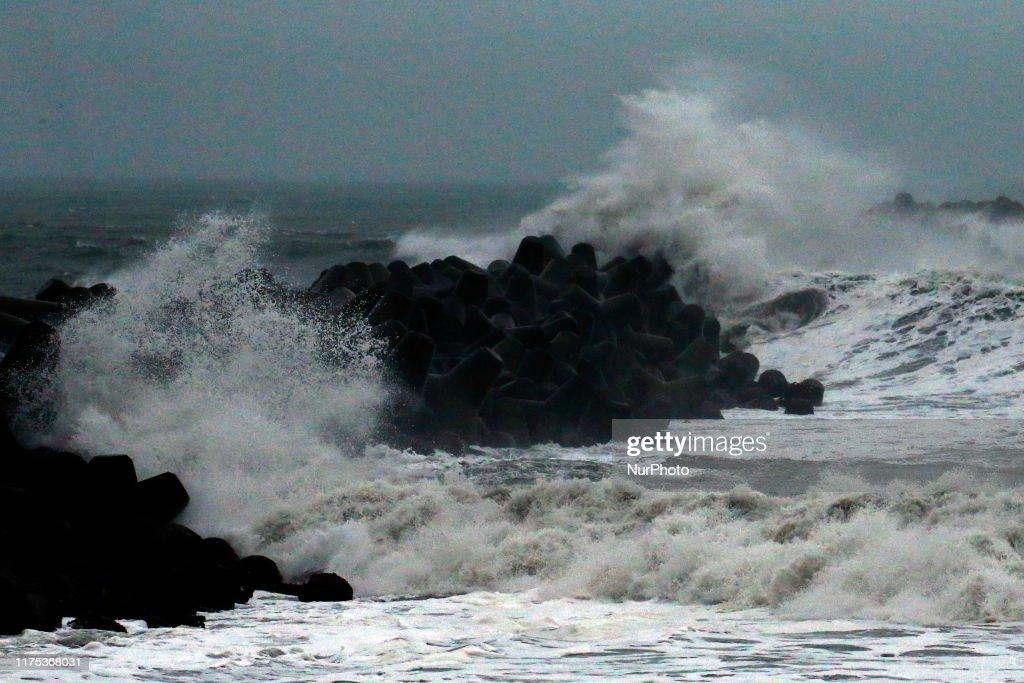 Typhoon Hagibis Approaches In Tokyo : News Photo