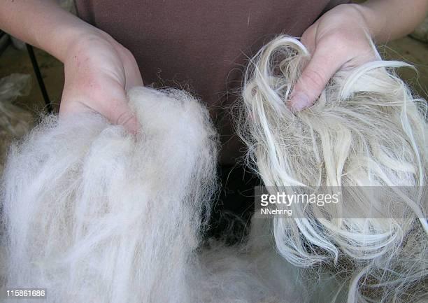 Suri und Huacaya Alpaka-Fleece-Jacken