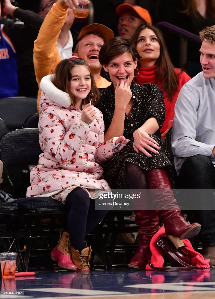 Celebrities Attend The New York Knicks Vs Oklahoma City Thunder Game