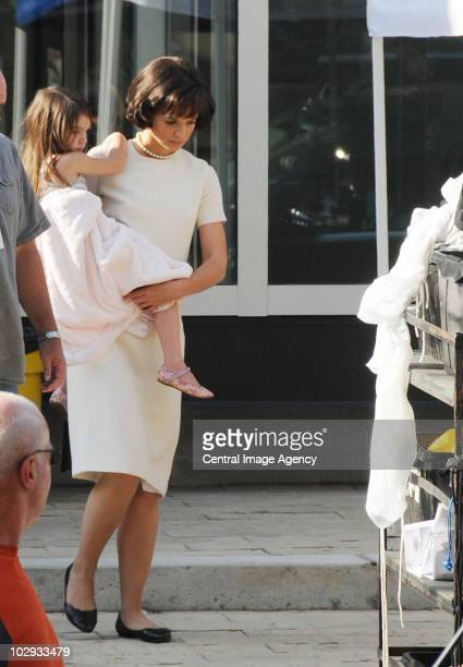 Suri Cruise and Katie Holmes seen on the streets of Toronto on July 15 2010 in Toronto Ontario Canada