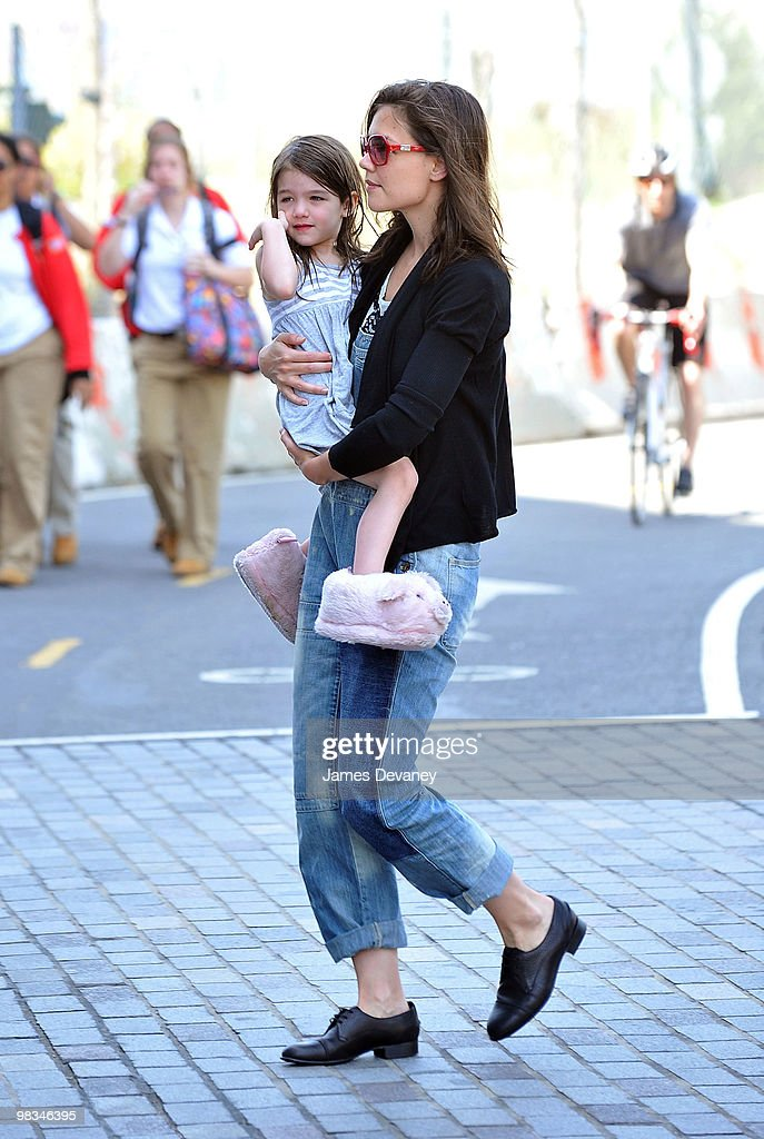 Suri Cruise and Katie Holmes visit Chelsea Piers on April 8, 2010 in New York City.