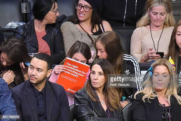 Suri Cruise attends a basketball game between the Detroit Pistons and the Los Angeles Lakers at Staples Center on January 15 2017 in Los Angeles...