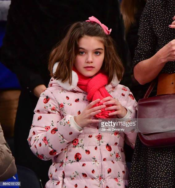 Suri Cruise attends the Oklahoma City Thunder Vs New York Knicks game at Madison Square Garden on December 16 2017 in New York City