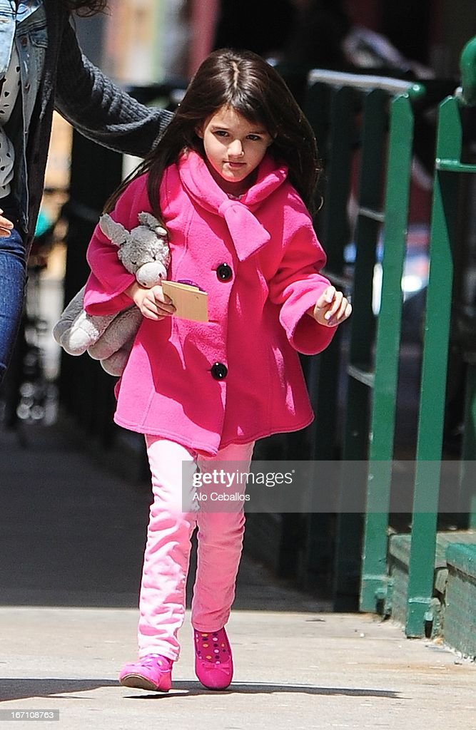 Suri Cruise is seen in Tribeca on April 20, 2013 in New York City.