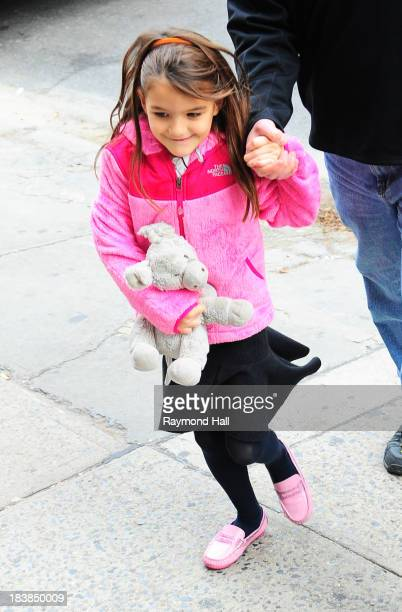 Suri Cruise is seen is Soho on October 9 2013 in New York City
