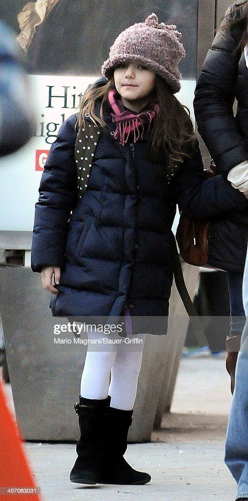 Suri Cruise is seen on December 16, 2013 in New York City.
