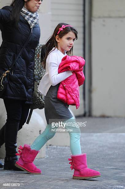 Suri Cruise is seen on February 10 2014 in New York City