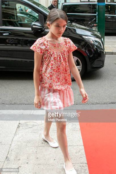 Suri Cruise is seen on July 1 2018 in Paris France